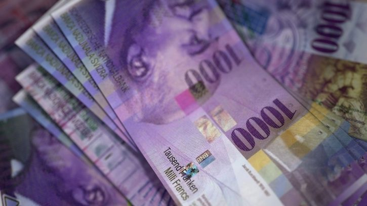 Trade Swiss Franc against Bitcoin